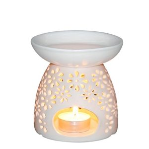 Ivenf Vase Shape Ceramic Tea Light Holder