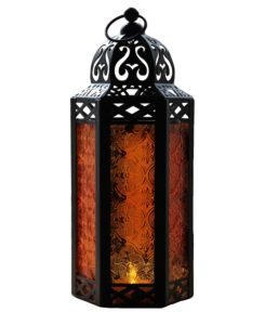 Amber candle lanterns for weddings