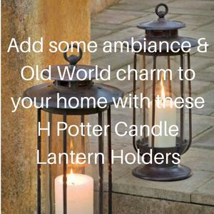 H Potter Candle Lantern Holders