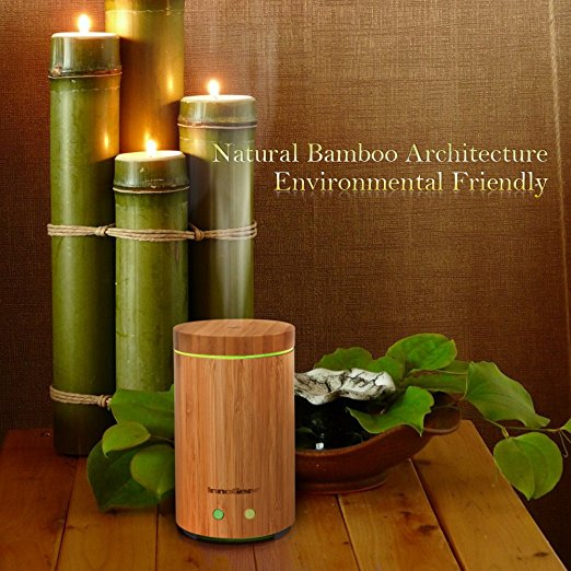 InnoGear Real Bamboo Ultrasonic Essential Oil Diffuser